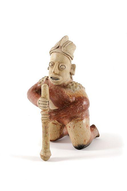 Maisstampfer, Jalisco/Mexiko, 100 v. Chr. - 200 n. Chr., Ton