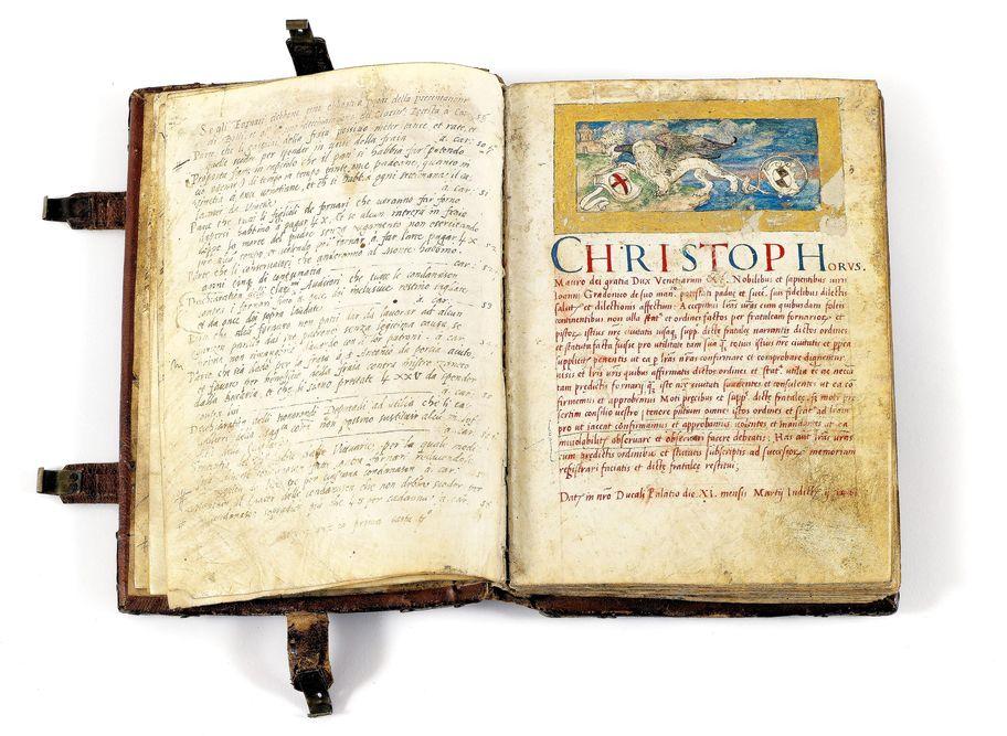 Buch Bäckerbruderschaft von Padua, It,alien, 1461-1630, Bäckerbuch