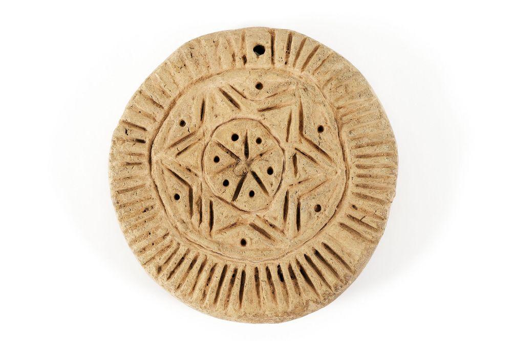 Brotstempel, Byzantinisches Reich, 7. Jahrhundert n. Chr., Ton